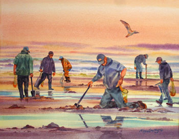 Clamming 2 by Roy Lowry
