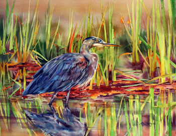 Morning Heron by Roy Lowry