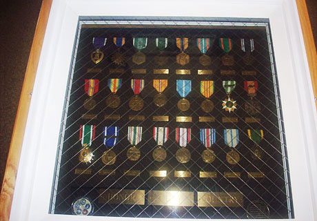 Veterans' Memorial Medal Display