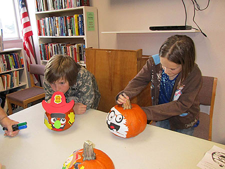 Kids Pumpkin Decorating