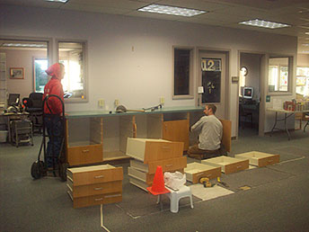 New Circulation Desk Preparations